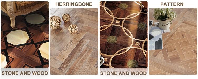 Fudeli Natural White Washed Solid Teak Wood Floor