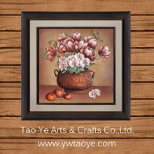FY6-H2 Flower Picture Frame 3D Pictures Of Beautiful Flowers Oil Painting