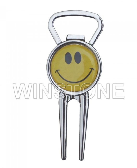 Customized Logo Function 2 In 1 Golf Pitchfork With Bottle Opener