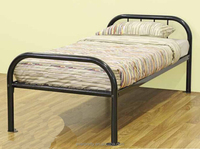 Home furniture iron tube dormitory beds, metal frame bed, wrought iron furniture metal frame beds