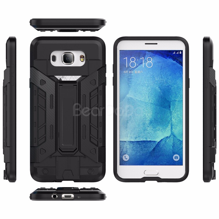 Folding kick stand back cover case for samsung galaxy j7 2016 case
