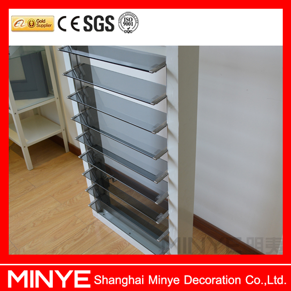Adjustable Aluminum Lamilated Tempered Glass Window Shutter/Louver With European standard