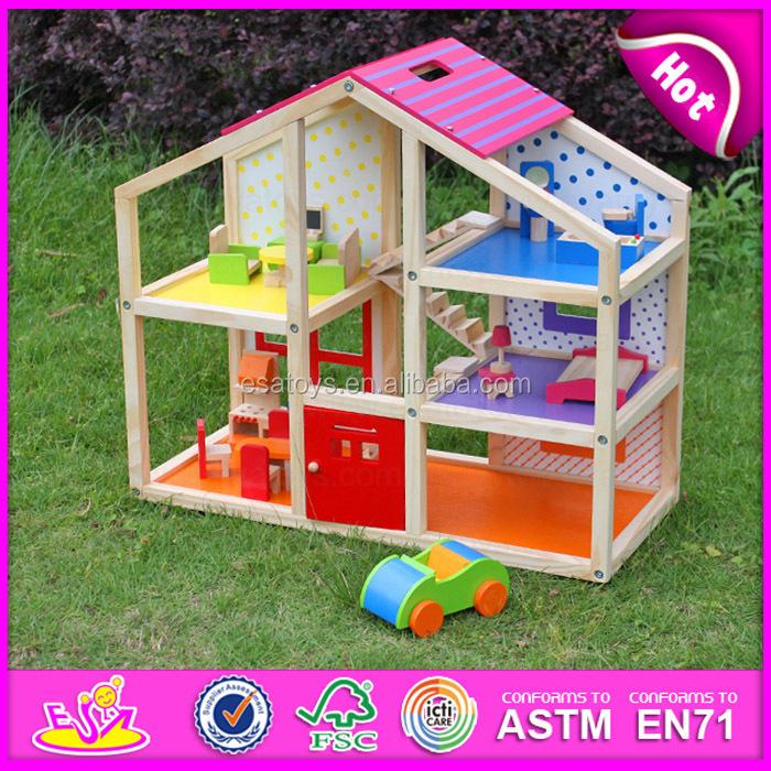 nuevo juguete de madera casa de muecas para los nios nio monta de ensamblaje