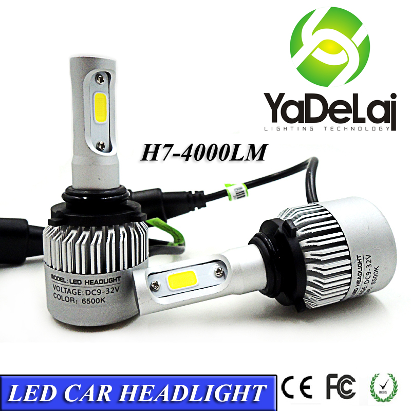 2017 automobiles & motorcycles S2 9006 HB4 car led headlight bulb 36W 8000lm led light kit