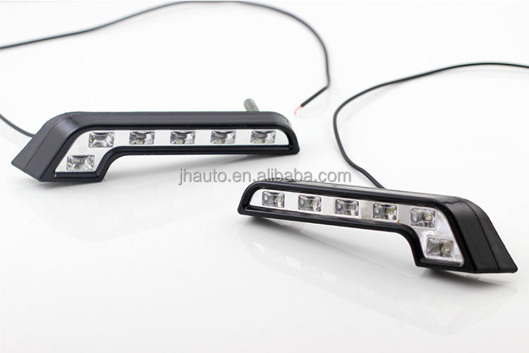 6W Car LED Daytime Running Lights, with 12V DC Voltage, 6 Piranha LEDs Waterproof