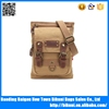 Men's canvas and leather material satchel bag with high quality