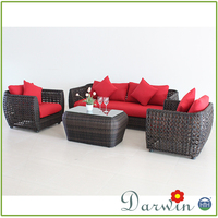 Leisure time artificial rattan hd designs outdoor furniture sofa sets