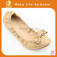 Wholesale colorful portable flat shoes camel spain ballet pumps