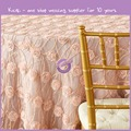 KA427 Wedding decorative table cloth round rosette table cloth for center table
