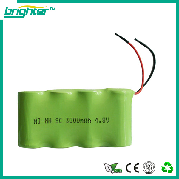 High power 7.2v 2200mah nimh cell rechargeable battery pack set by CE certification