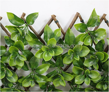 wholesale decorative artificial green leaf barrier fence