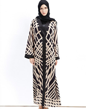 wholesale muslim women gown knitting cotton dress