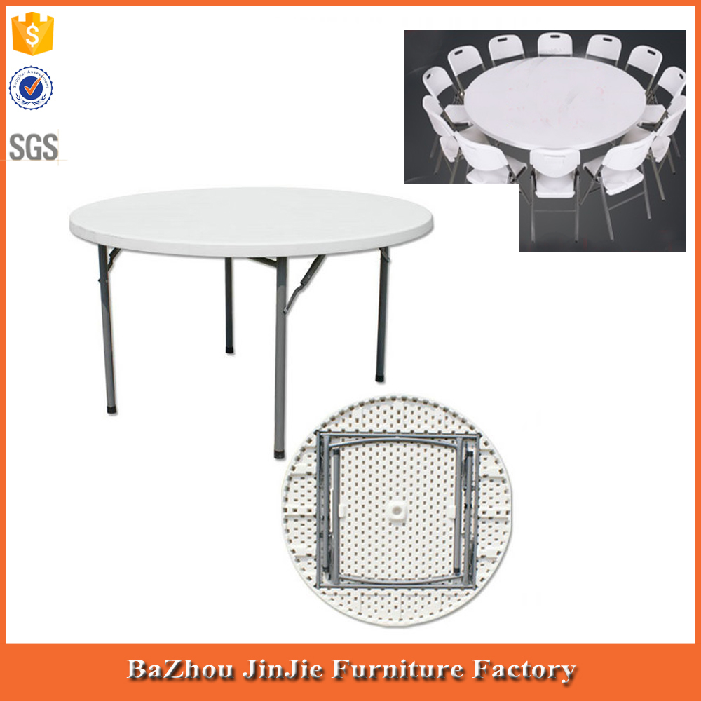 5ft cheap modern plastic banquet folding round table folding dining table