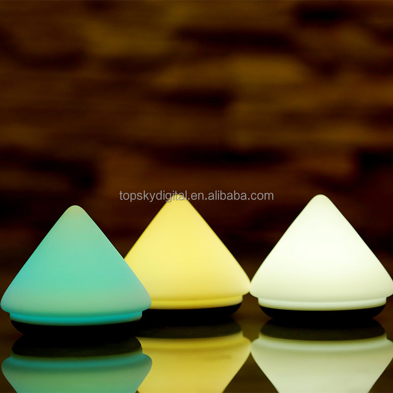 USB rechargable volcano silicone night light soft baby lamp 7 colors