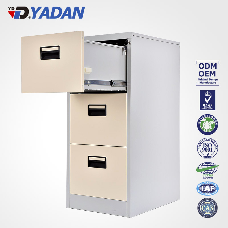 Yadan steel cabinet 4 drawers vertical filling hanging A4, FC, letter & legal size file