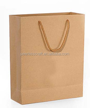 Cheap Brown Kraft Paper Bag with Logo Print