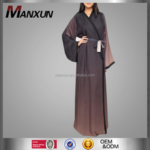 2017 Muslim Kimono Latest Islamic Clothing Modest Cardigan Over Front Coat With Lace Women Design