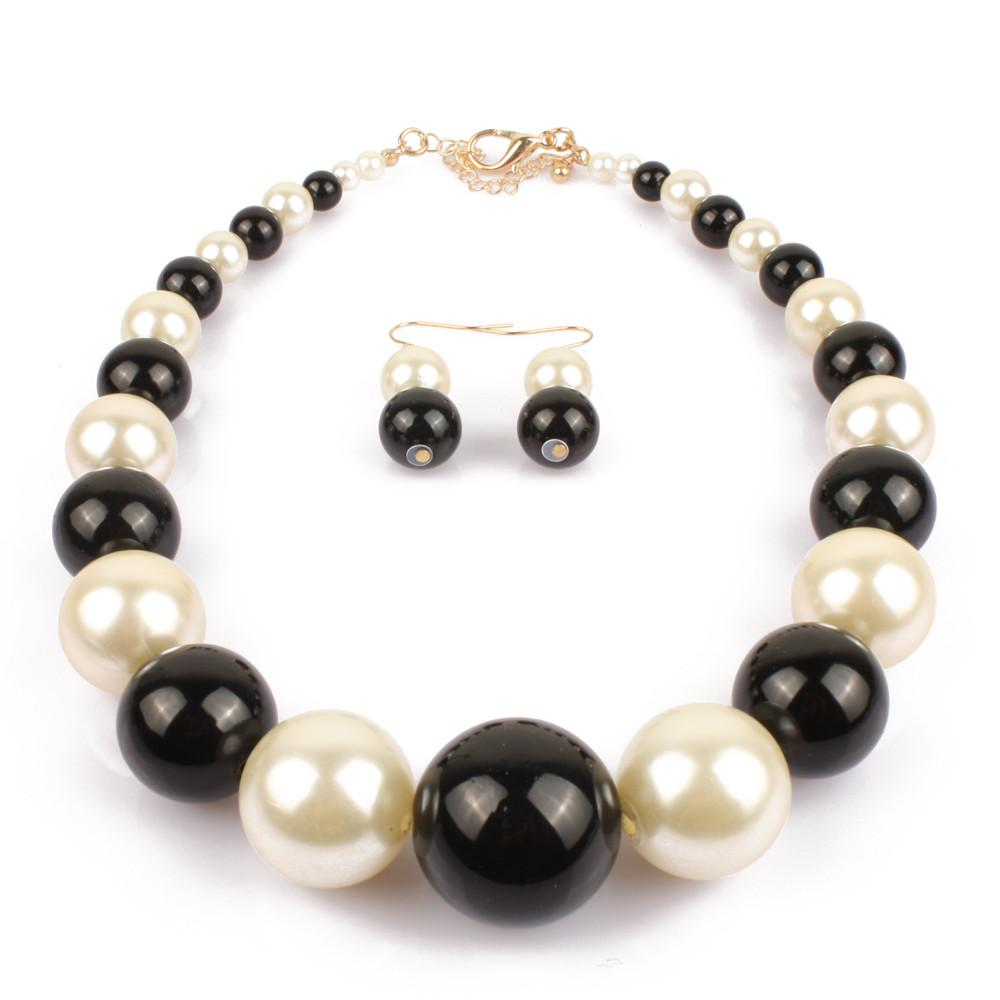 Pearl Strand Jewelry New Fashion Big Pearl Bead Choker Women Pearl collar necklace