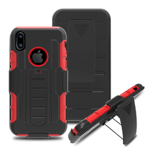 High Quality PC Silicon Robot Armor Back Case For Apple Iphone 8