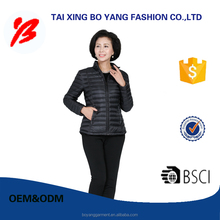 oem JYL 402 customize LADY black ultra light white goose down jacket for winter