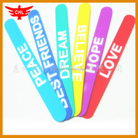 Guangdong Factory Make Custom Promotion Silicone Clap Bracelets