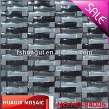 Waving/Arch/Irregular crystal glass mix Marble/Stone Mosaic Tiles