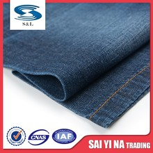 100%cotton yarn dyed indigo organic regular denim fabric