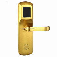 China Factory Copper Hotel smart card key mortise lock security electric door lock PY-8341-T