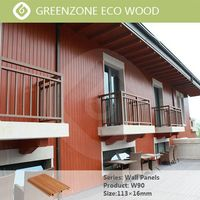Stylish design commercial wall deco wpc coloring recycled material exterior cladding