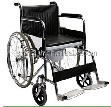 wheelchair with toliet,reclining commode chair