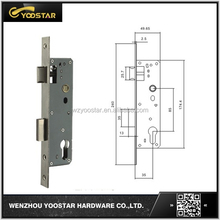 China steel lock body for interal wood door
