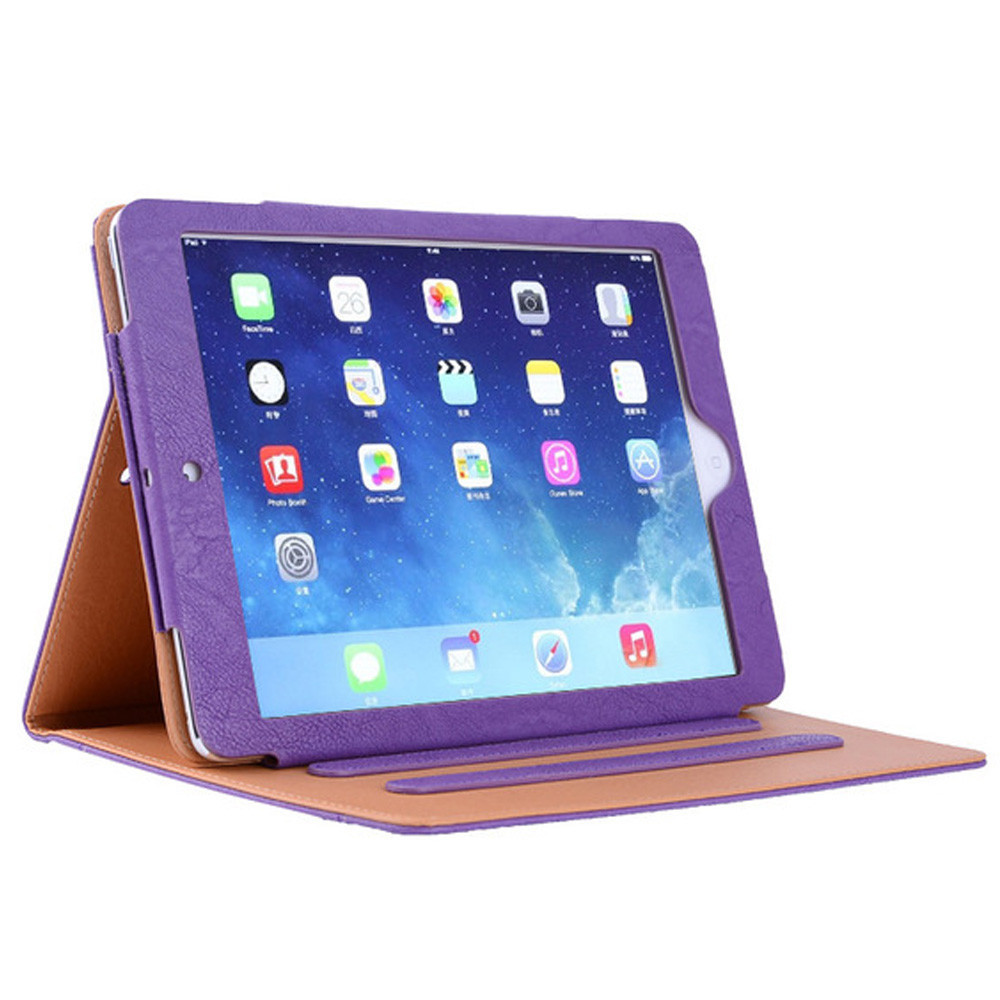 abroad hot sale shockproof pu case for ipad 6