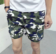 High Quality Camouflage tights compression shorts sport training bodybuilding fitness mens gym Shorts