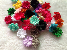 "In Stock 1.6"" Satin Flower Artificial Flowers Accessories,Multilayer Chiffon Hair Flowers"