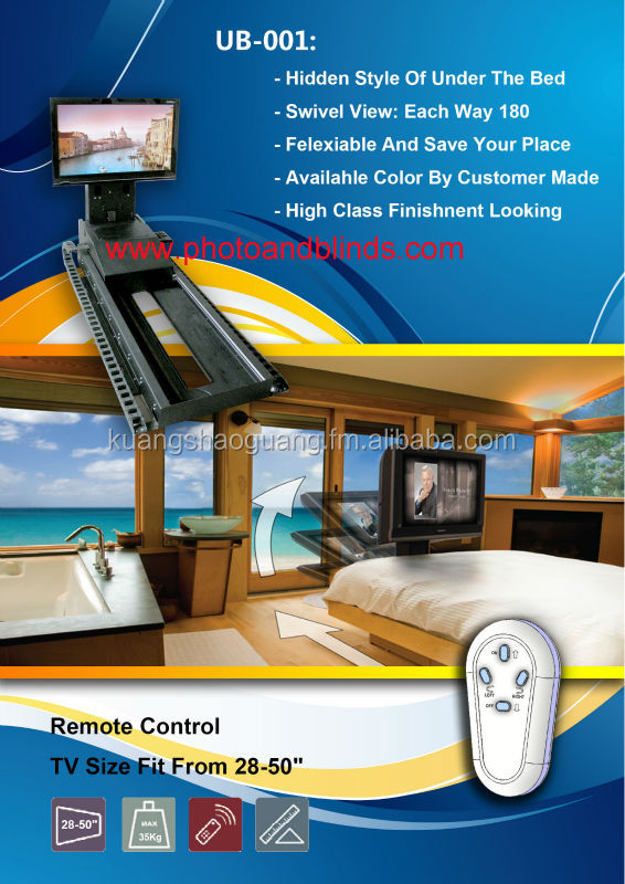 under bed remote control tv lift buy motorized tv lift. Black Bedroom Furniture Sets. Home Design Ideas