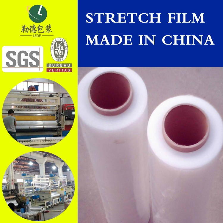 LLDPE Roll Stretching Film dispenser and Wrapping Film For Strong Tensile Force