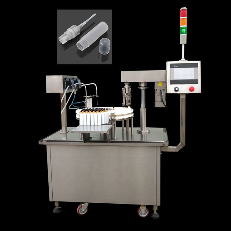 50ml Semi-auto spray filling capping machine CBD oil / perfume sprayer filling capping labeling machine