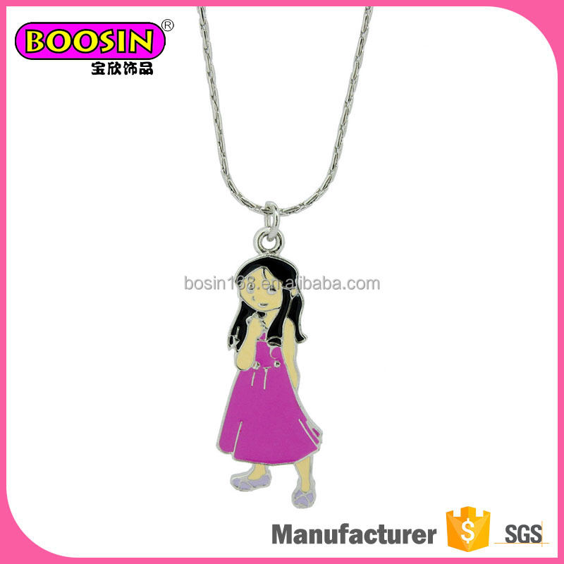 Cute Boy and Girl Jewelry Pendant Necklace Wholesales