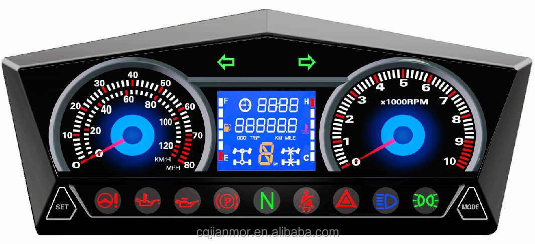 LCD display digital meter for motorcycle/ATV speedometer odometer Hsun UTV