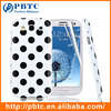 Set Screen Protector And Case For Samsung Galaxy S3 I9300 , Dot Pattern Hard Gel TPU Case For Samsung