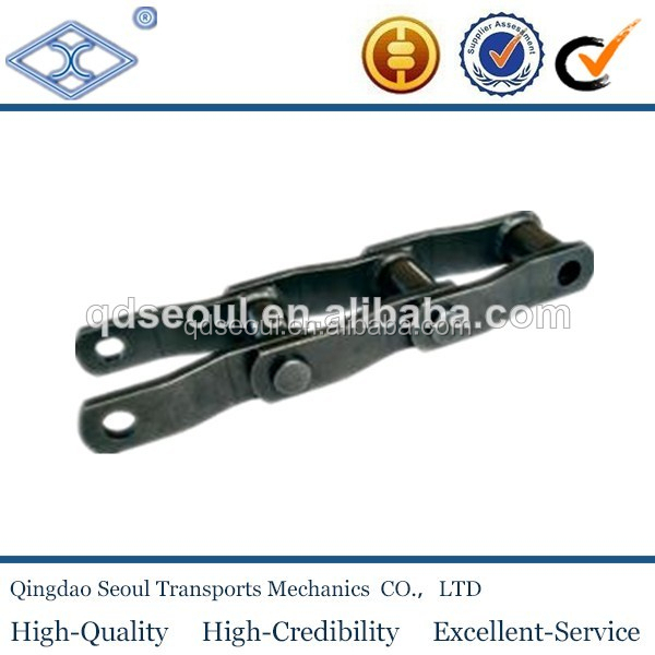 ISO standard heavy duty pitch 152.4 cranked link mill welded steel chains W110