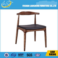 A03 hot sell solid wood with leather hotel dining chair solid wood arm chairs solid beech wood chair
