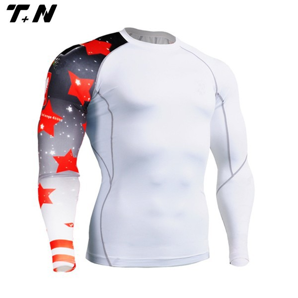 sublimation mma cycling mens wholesale custom skin compression tights shirts