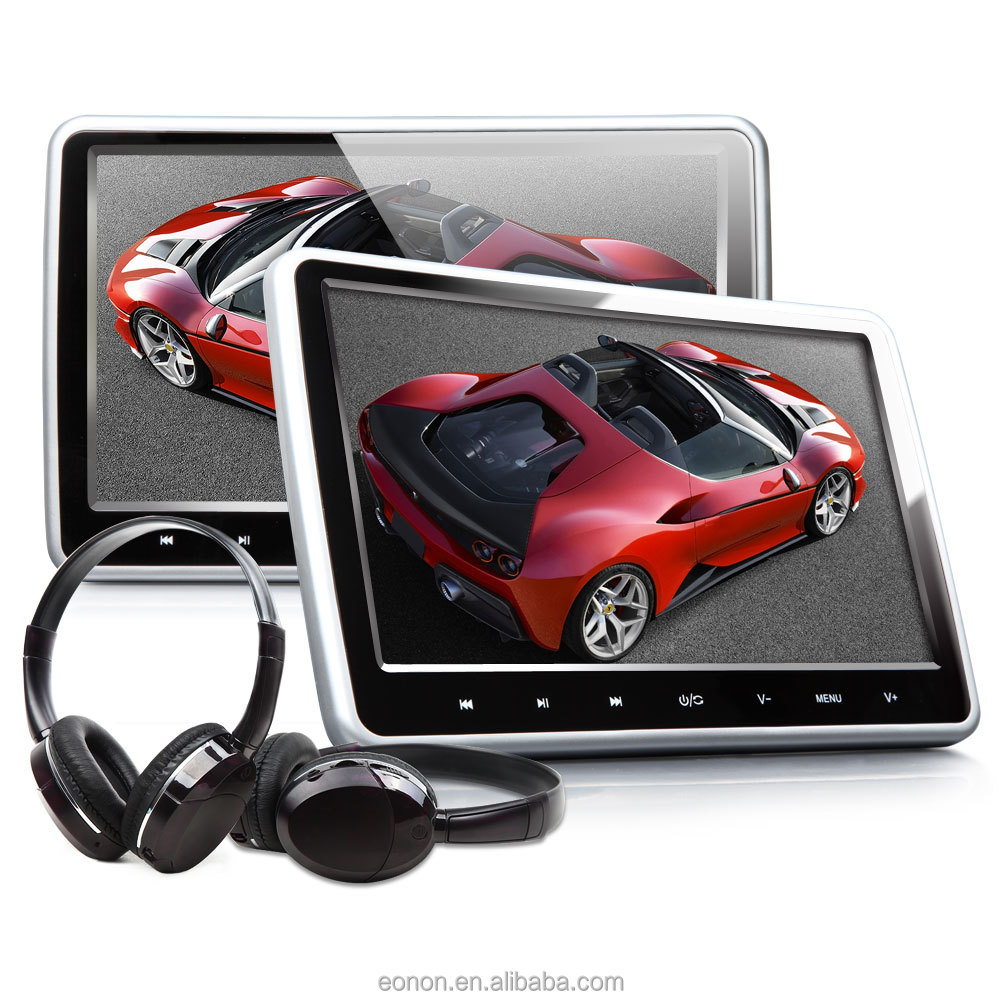 "EONON C1100A Clip-on 10.1"" Headrest Monitor with DVD Player Equipped with Wireless IR Stereo Headset"