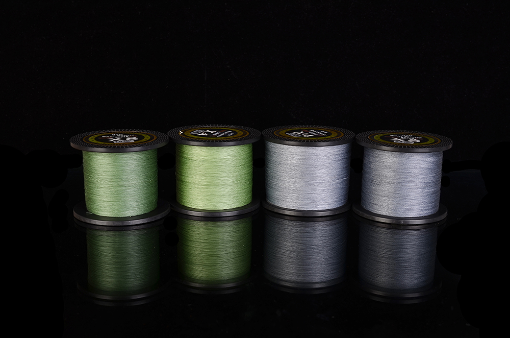 DAH New Brand 4stands 8 stands 1000M PE Braided Fishing Line 4 waves Multifilament 8 waves Fishing Line free shipping