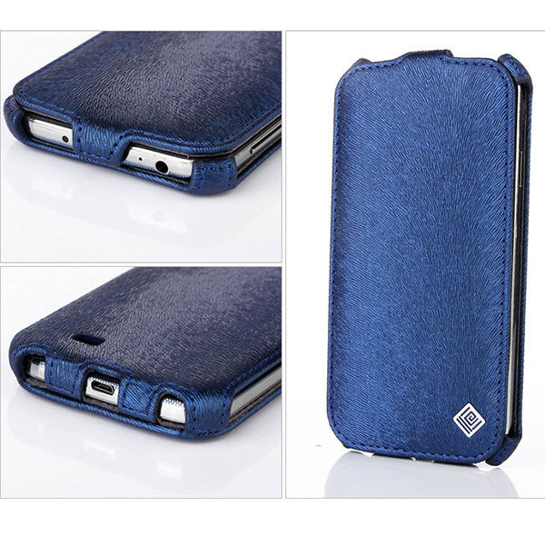 High quality vertical flip leather case for samsung galaxy s4