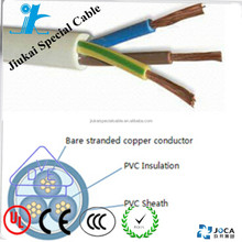 CE approved H05VV5-F 3 cores 0.5mm pvc insulation and sheath cable