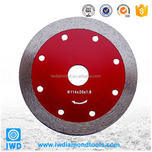 Continuous diamond cutting wheel for glass cutting disc