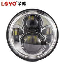 "Black 5 3/4"" 5.75 Inch 40W Daymaker Projector LED Headlight Lamp Bulb for harley motorcycle loyo"