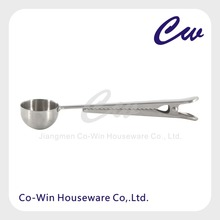Stainless Steel Bag Clip with Coffee Spoon